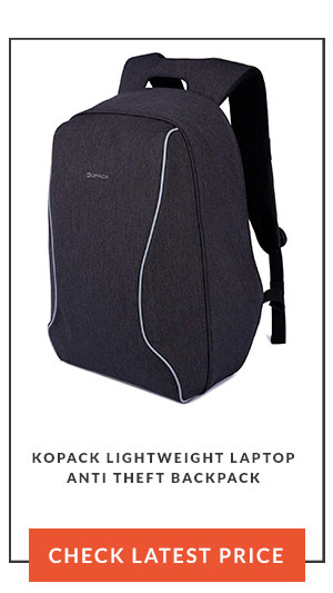 Kopack Lightweight Laptop Anti Theft Backpack