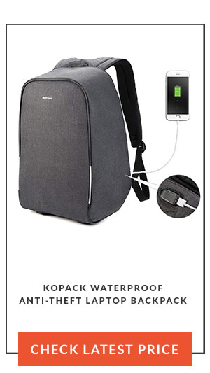 Kopack Waterproof Anti-Theft Laptop Backpack latest price