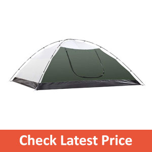 SEMOO Double Layer Lightweight Camping Traveling Tent with Carry Bag
