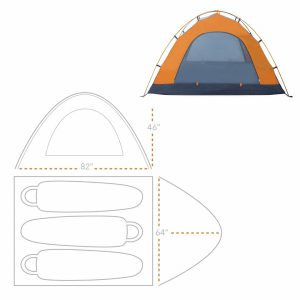 Winterial 3 Person Backpacking & Camping Tent Review in 2019 (3)