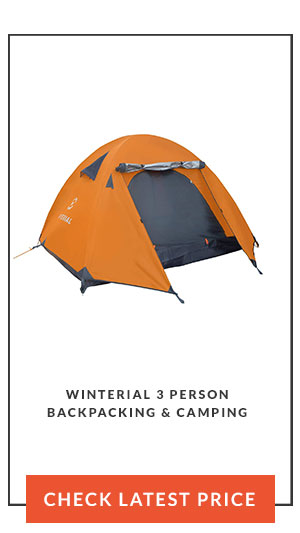 Winterial 3 Person Backpacking & Camping Tent