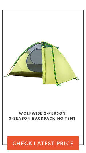 WolfWise 2-Person 3-Season Backpacking Tent